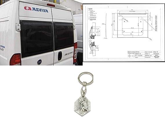 Zisa-Kombi - Ventana para Puerta Trasera Ducato, Peugeot Boxer, Citroen Jumper a Partir de 7/2006 (93298832203) con Remolque Hlg. Cristóbal: Amazon.es: Juguetes y juegos