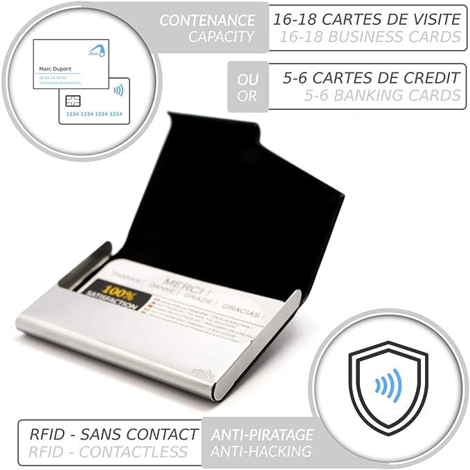 439-03 Porte-cartes de visite fait en acier inoxydable de haute qualit/é rouge pour 10-12 cartes de visite