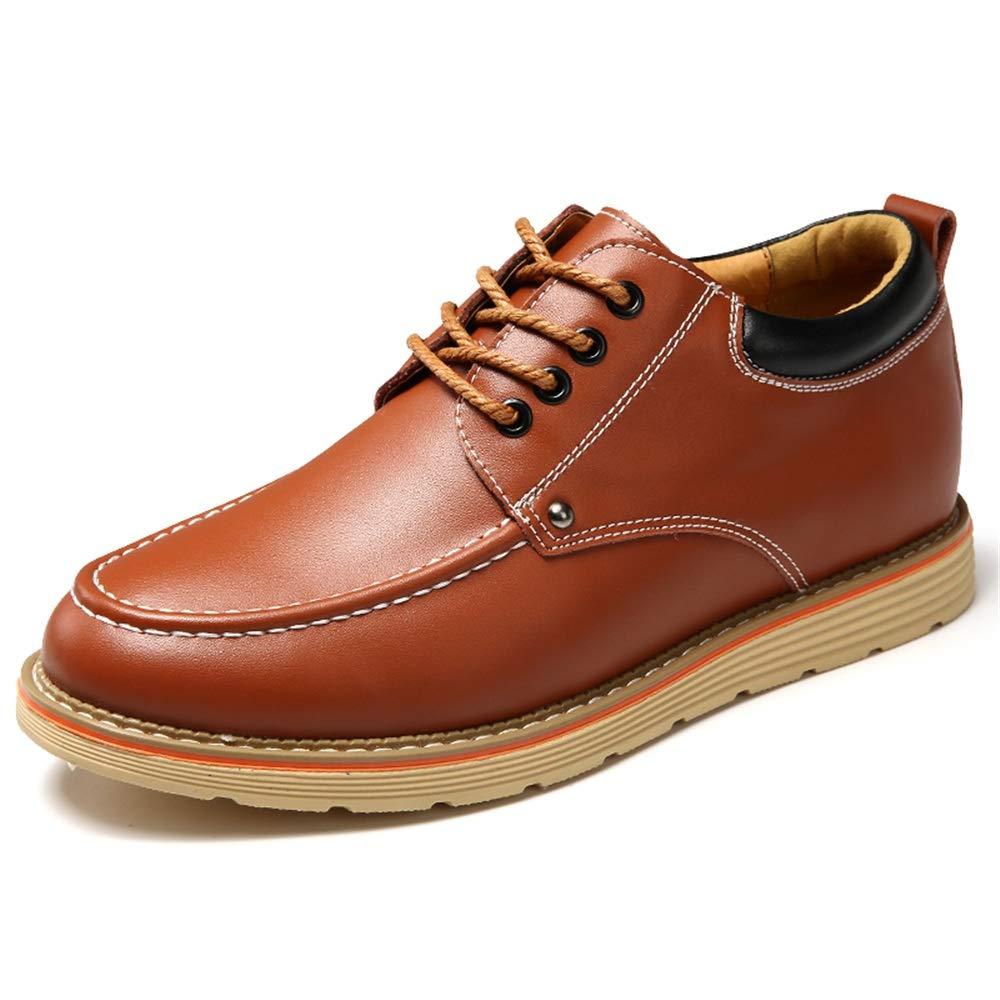 2018 Mens schuhe, Oxfords Elevator Schuhe 6 cm   2,5 Höhe Zunehmende PU Leder Schnürverschluss für Männer (Farbe   Braun, Größe   40 EU)