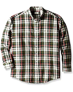 Men's Big-Tall Long Sleeve No Wrinkle Twill Button Down Collar Shirt