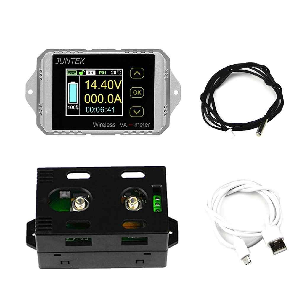 censhaorme Probador Capacidad CC 120V 200A Wireless amper/ímetro de tensi/ón KWh vatios medidor de bater/ía de Coche Coul/ómetro Power Monitor