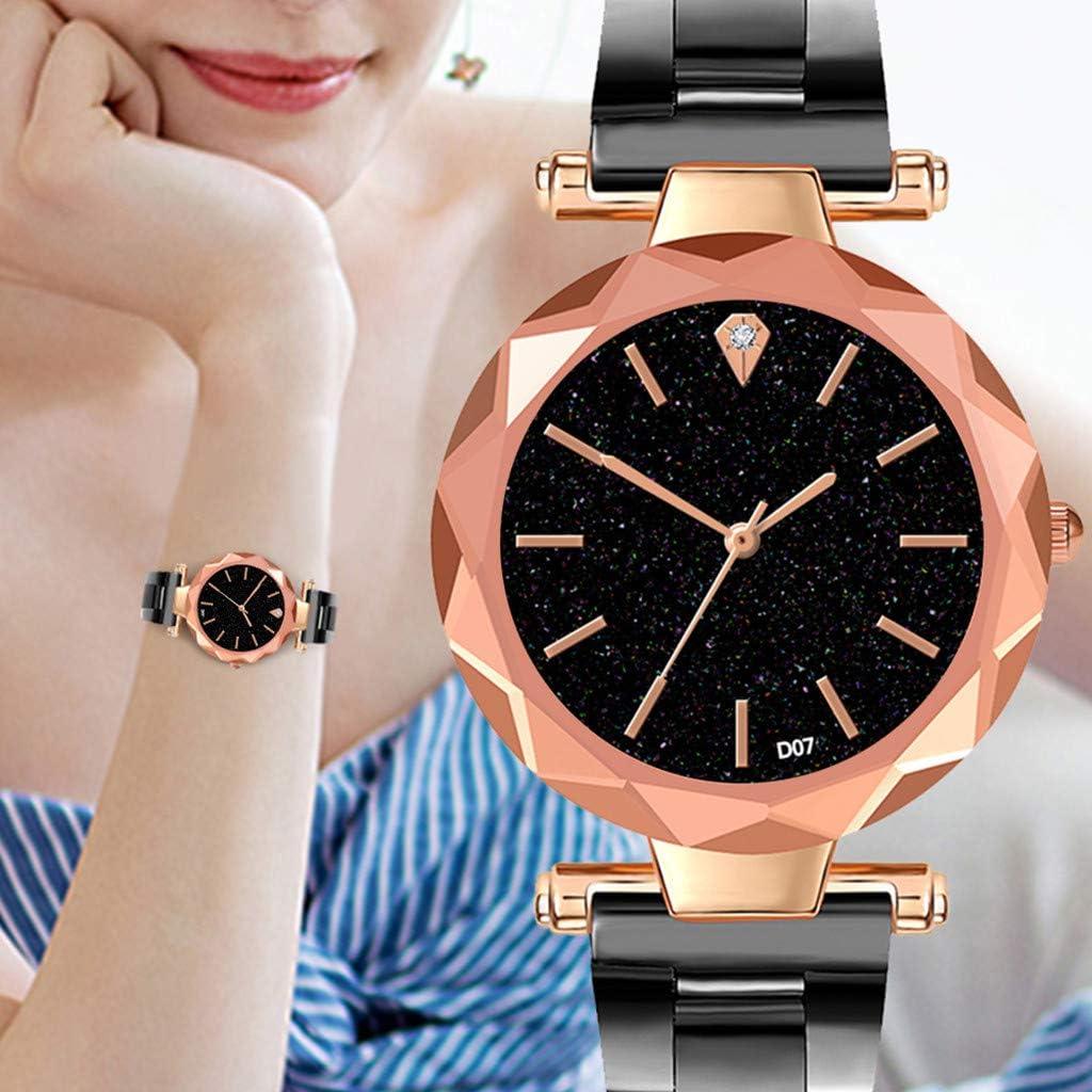 REALDE Mujeres Elegante Moda De Cristal Reloj De Oro para Numeral ...