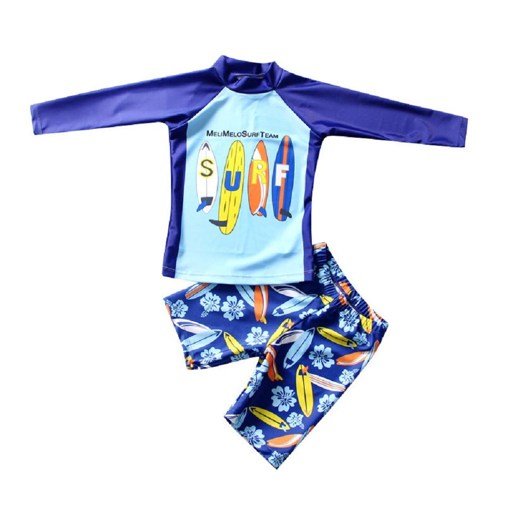 Baby Boys Kids Long Sleeve UV Sun Protection Rash Guards Swimsuit JC512