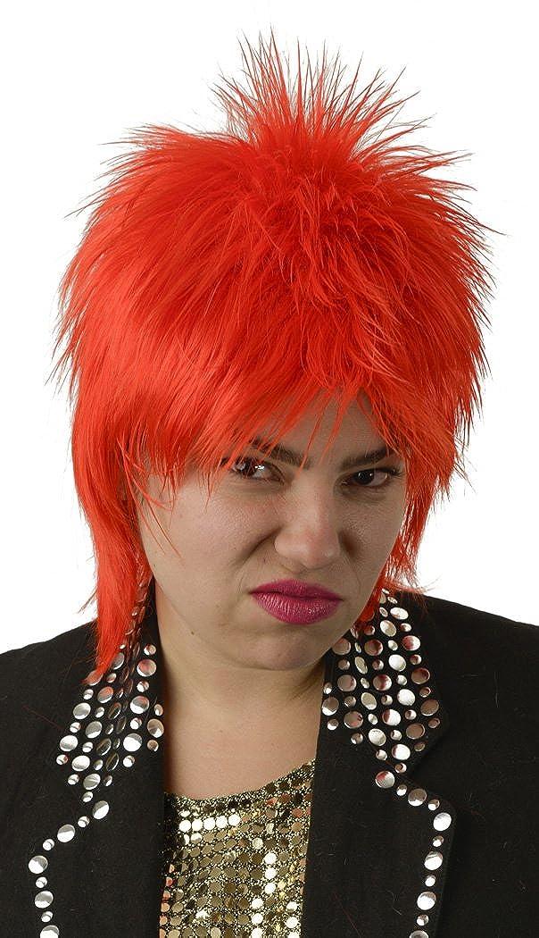 Amazon.com: Ziggy Stardust Bowie salmonete Disfraz Peluca ...