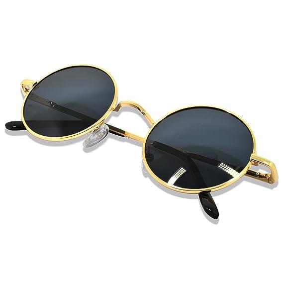 760e27e34f Image Unavailable. Image not available for. Colour  Vintage Retro Unisex Round  Polarized Sunglasses by WHCREAT Spring Hinge Metal Frame UV 400 ...