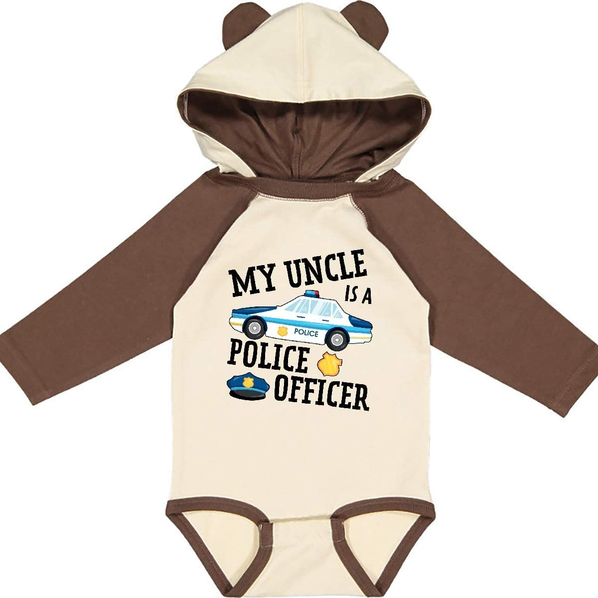 inktastic My Uncle is a Police Officer Long Sleeve Creeper