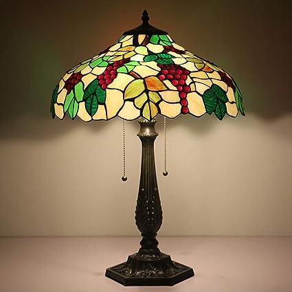 Tiffany Style 16 pulgadas lámpara de mesa de vidrio de uva ...