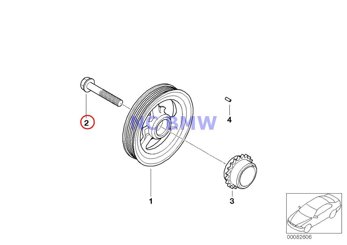 12 X 1.75 X 75 mm Cooper S Coop.S JCW GP Cooper S BMW Mini Genuine Crankshaft Pulley Hex Bolt