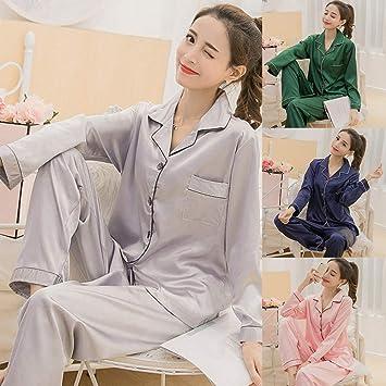 Amazon.com   Underwear Women -Women Solid Color Silky Pajama Set ... 894d434d4