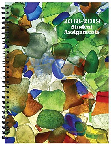 amazon com student assignment planner sea glass cover academic