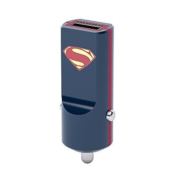 Tribe DC Comics 2.4 A Cargador de coche Fast Charge I USB Cargador Universal para iPhone, iPad, Smartphone Samsung Galaxy, Huawei, LG, Nexus - ...
