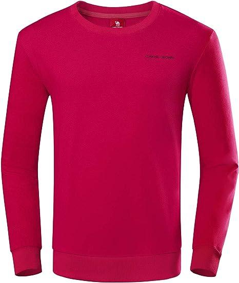 CAMEL Mens Crewneck Fleece Sweatshirt Pullover Sweater Casual Long Sleeve Sports T-Shirt Outwear