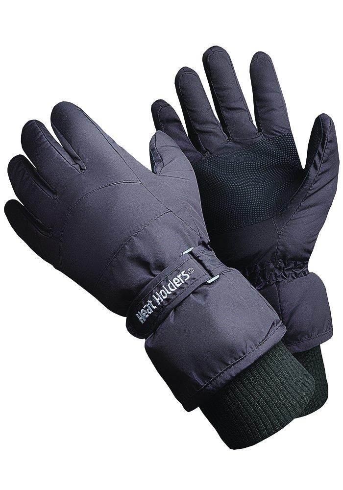 Heat Holders - Men's Black Thermal Ski Gloves in 2 Sizes. (L/XL)