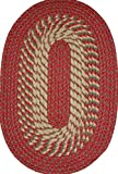 Constitution Rugs Plymouth 30″ x 50″ Braided Rug in Barn Red For Sale