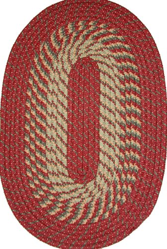 Barn Braided Red Rug (Plymouth 6' ROUND Braided Rug in Barn Red)