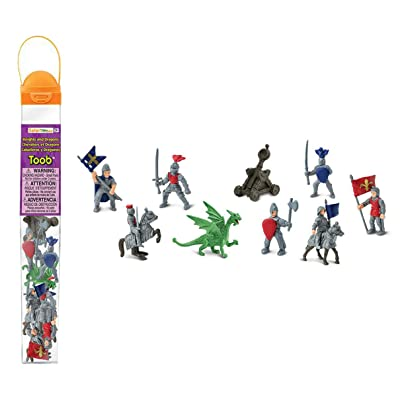 Safari Ltd 699904 Knights & Dragons Toob Hand Painted Toy Miniature Figurines (Set of 11): Toys & Games