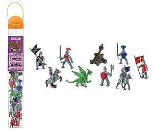 Safari Ltd 699904 Knights & Dragons Toob Hand Painted Toy Miniature Figurines (Set of 11)
