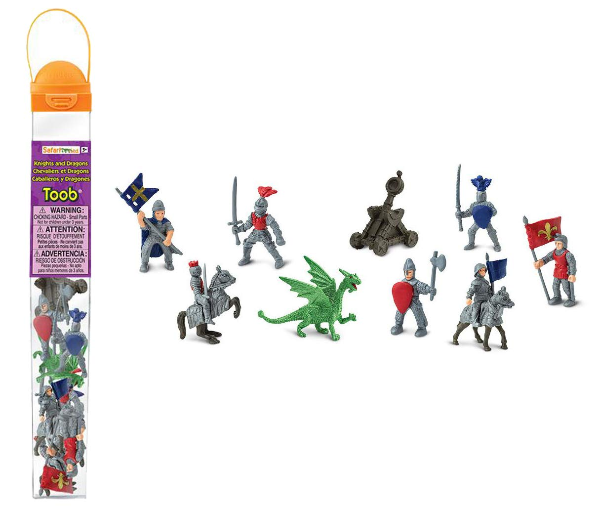 Safari Ltd 699904 Knights & Dragons Toob Hand Painted Toy Miniature Figurines (Set of 11)
