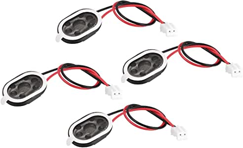 uxcell 1W 8 Ohm Audio Speaker 20 X 14 mm with Wire Loudspeaker and 2 Pin Terminal 4pcs