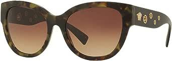 فيرساتشي نظارات شمسية للنساء، لون العدسة بني، 4314