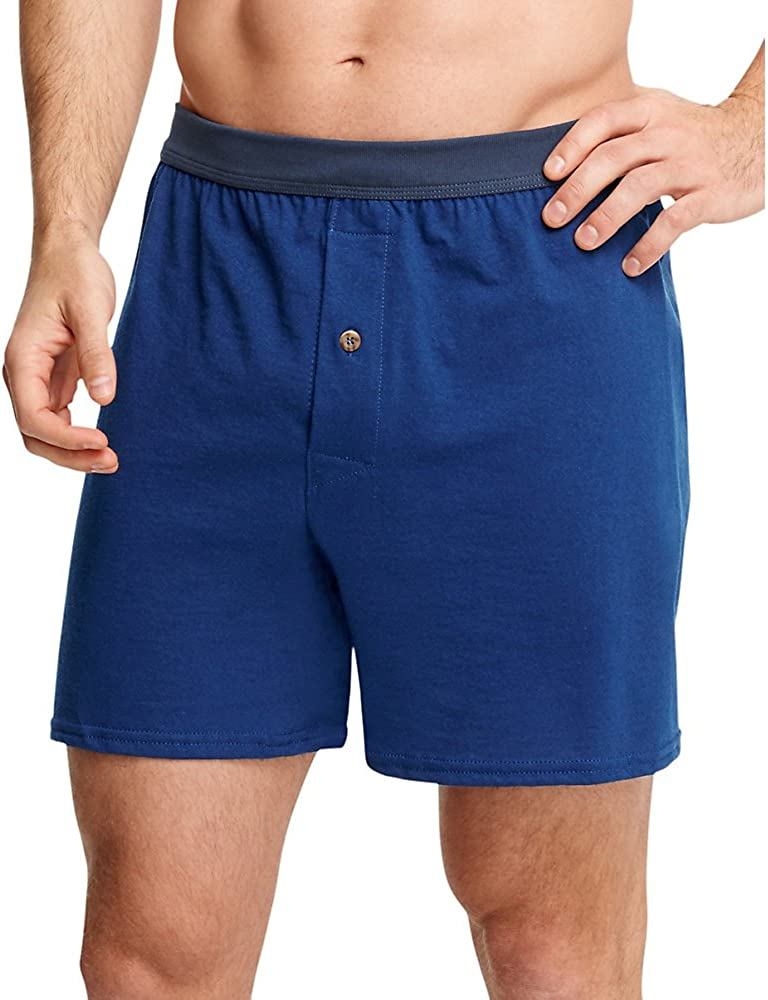 48-50 Assorted, XXX-Large Hanes Mens 5-Pack FreshIQ ComfortSoft Boxer with ComfortFlex Waistbands