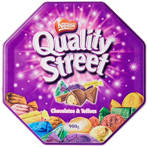 Nestle Quality Street Assorted Milk and Dark Chocolates & Toffees Tin NET WT 900 g (31.61 OZ)
