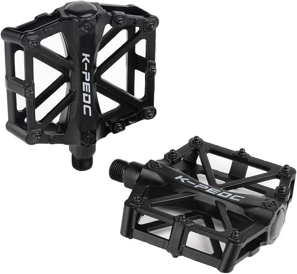 Bicycle Pedals Aluminium Flat Platform Cycling Bike Dual Peilin Bearings Pedals