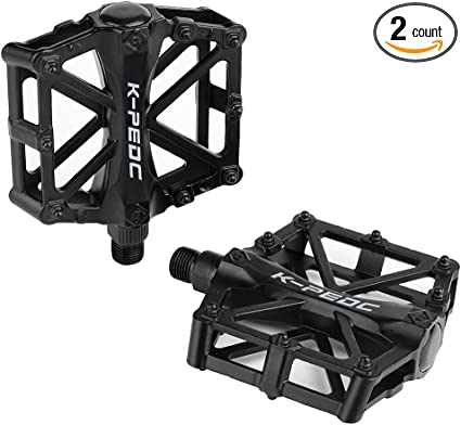 Cycling Alloy Flat-Platform Pedals Mountain MTB Road Bike Bicycle Bearing 9//16/""