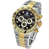 本物 人気ブランド 機械式 時計 天然ダイヤモンド [ ジョンハリソン ] 自動巻 腕時計 メンズ 紳士 誕生日プレゼント