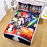 Luxury Soft Brushed 1500 Series Microfiber Duvet Cover Set, 3D Print Star Wars Pattern Hotel Quality & Hypoallergenic with Zipper Closure & Matching Shams