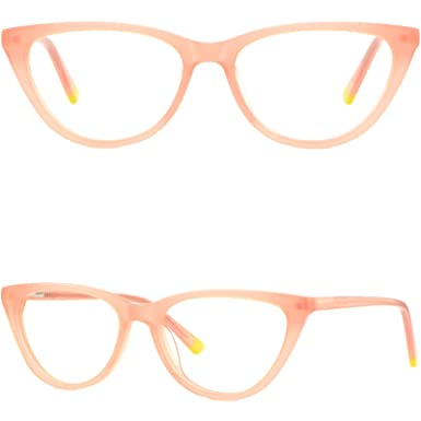 fbdad391815 Image Unavailable. Image not available for. Color  Cateye Plastic Frames  Women s Prescription Glasses Eyeglasses Spring Hinges Pink
