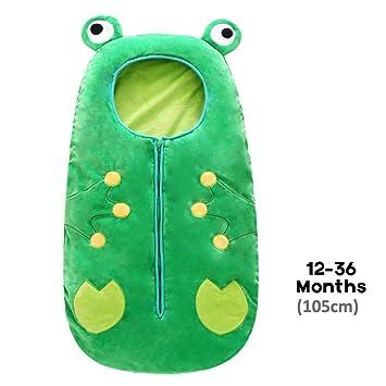 Skipo - Saco de Dormir para Todas Las Estaciones, diseño de Animales, Verde, Large: Amazon.es: Hogar