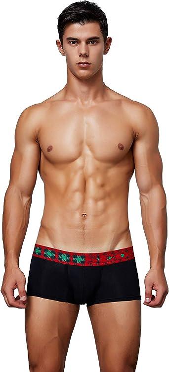 Seobean Brand Men/'s Chain Printed Underwear Fashion Low Rise Comfy Boxer Brief