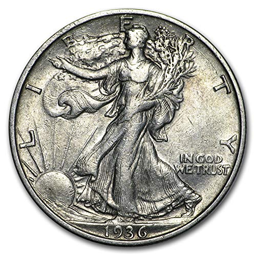 1936 S Walking Liberty Half Dollar XF Half Dollar Extremely Fine