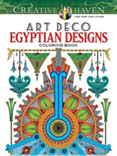 Creative Haven Art Deco Egyptian Designs Coloring Book Adult