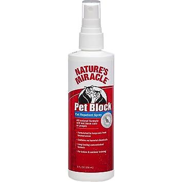 Milagro de la Naturaleza Mascotas Bloque Repelente Spray sólo para Gatos, 8-Ounce: Amazon.es: Productos para mascotas