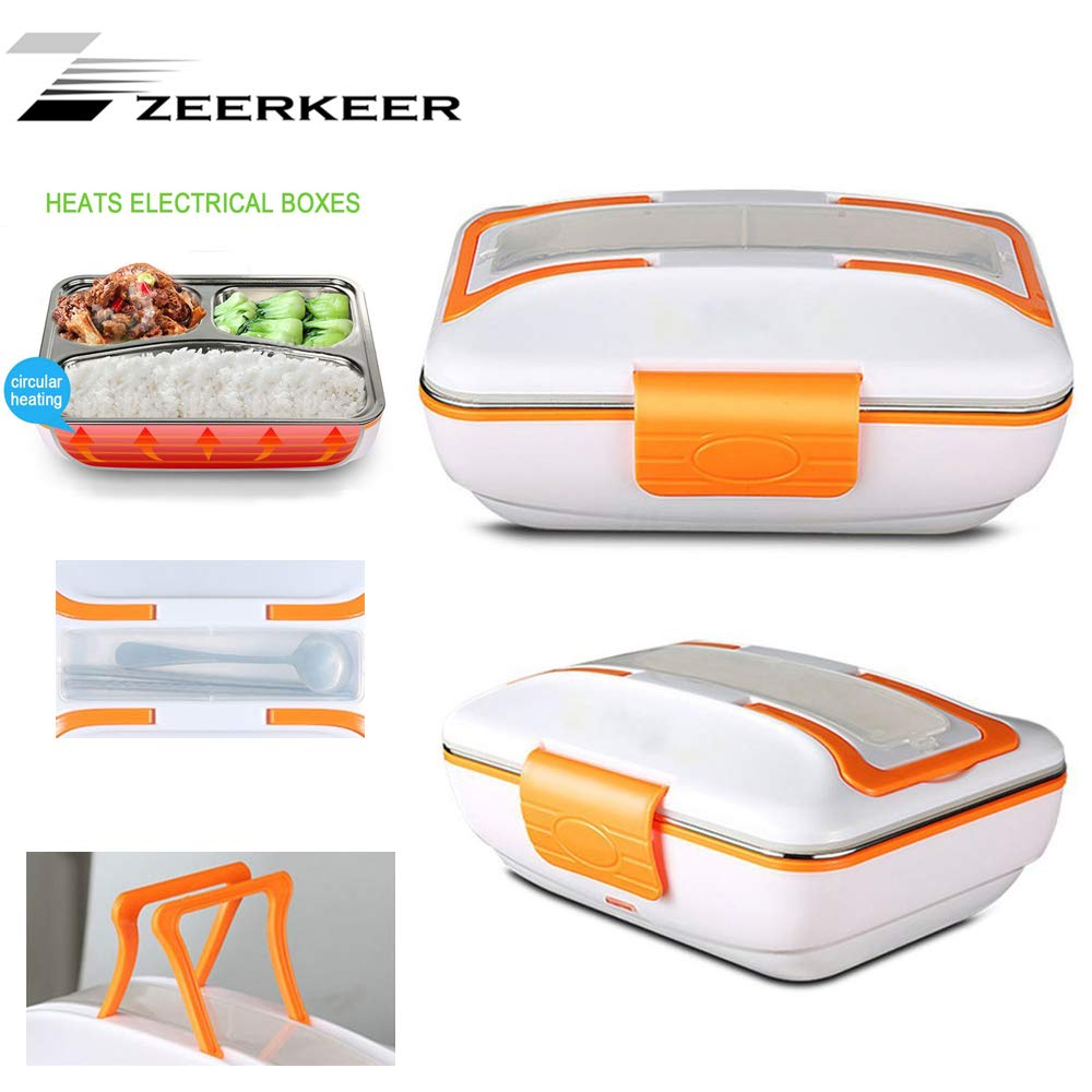 Zeerkeer Frischhaltedosen 3Teile Lunchbox Edelstahl Auslaufsicher Auslaufsicher Auslaufsicher BPA-frei Food Container Set für Essenslager (rot) B07K41CVNV Bento Boxen a458fc