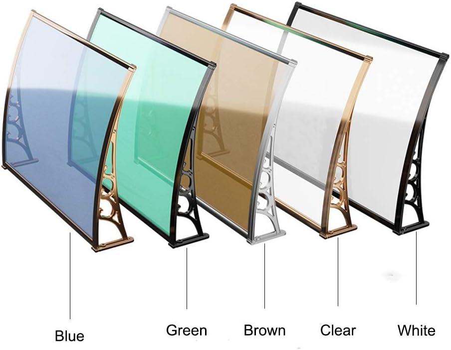 LPD ひさし雨よけ屋根ドアや窓のパティオカバーシェルター複数のサイズのためにドアキャノピーオーニングシェルターフロントバックポーチ (Color : Blue, Size : 80x80cm)
