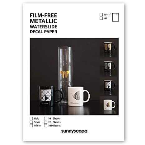 Sunnyscopa Film-Free Laser Decal Paper Type A A4 100 Sheets 100 sheets