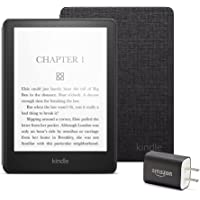 $189 » Kindle Paperwhite Essentials Bundle including Kindle Paperwhite - Wifi, Without Ads, Amazon Fabric Cover, and Power Adapter