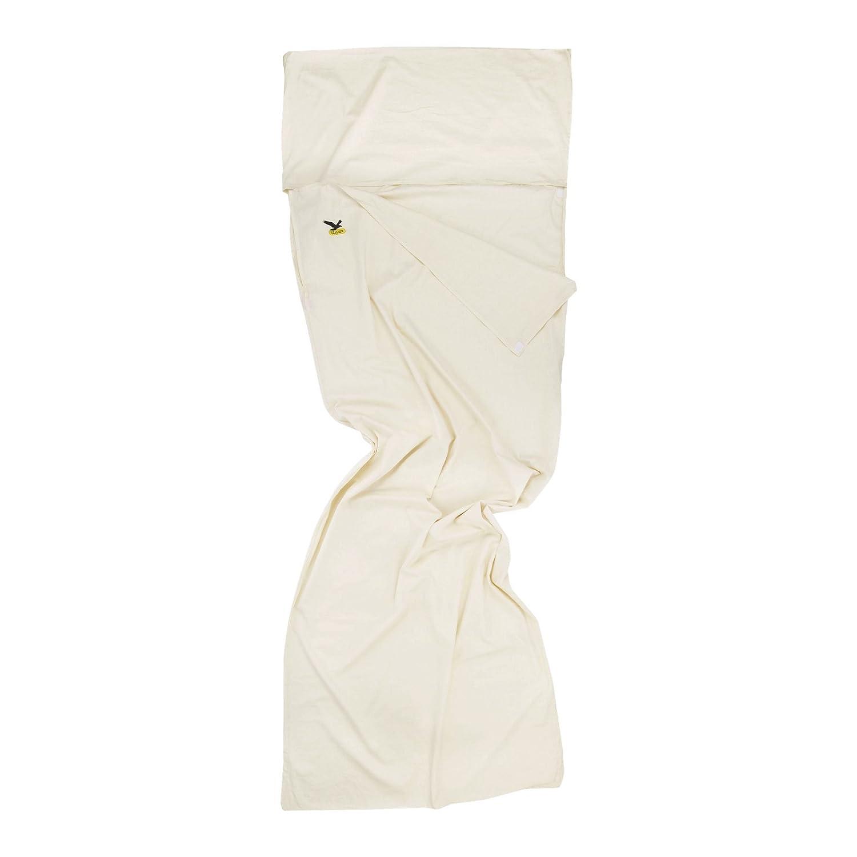 SALEWA Hüttenschlafsack Cotton Liner Silverized - Sábana para saco de dormir, color blanco, talla 22 x 16 x 7 cm: Amazon.es: Deportes y aire libre