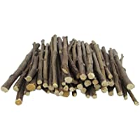 200g Bunny Apple Sticks, Small Pet Snacks to Grinding Teeth, Chew Toys for Guinea Pigs Chinchilla Squirrel Rabbits…
