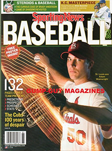 Sporting News BASEBALL 2008 Magazine STEROIDS: THE CURIOUS CASE OF BRADY ANDERSON Game of Shadows Revisited