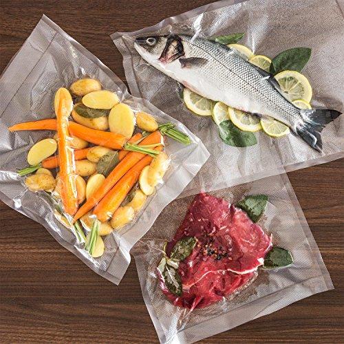 Klarstein FoodLocker-Chef • Envasador al vacío • Máquina de vacío • 20 L/min. • Doble Soldadura • Control táctil • Succión y Tiempo Regulables • Acero ...