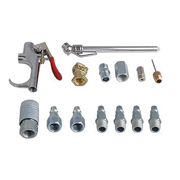 BQLZR Kit de herramientas de limpieza para compresor de aire de aleación de aluminio, 14 unidades: Amazon.es: Coche y moto