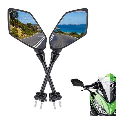 Cpmpatible with Kawasaki Ninja 650R Mirrors 2009-2020 NINJA ER6F ER-6F 2009-2012 NINJA 400R 2010-2014 Side Mirror: Automotive