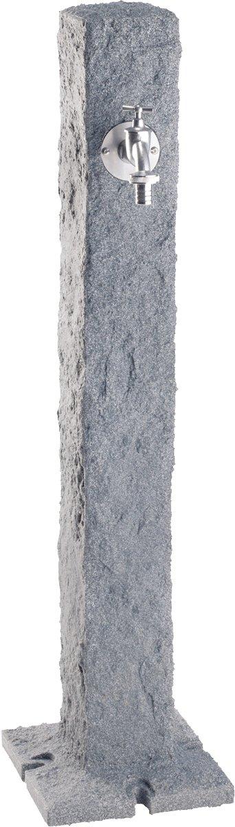 Wasserzapfsäule Granit, L x B x H: 13 x 13 x 100 cm, Standfuß L x B: 25 x 25 cm hellgranit