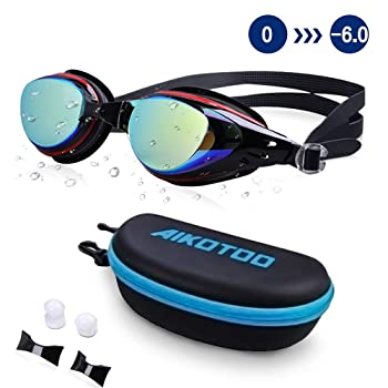 AIKOTOO Prescription Swimming Goggles