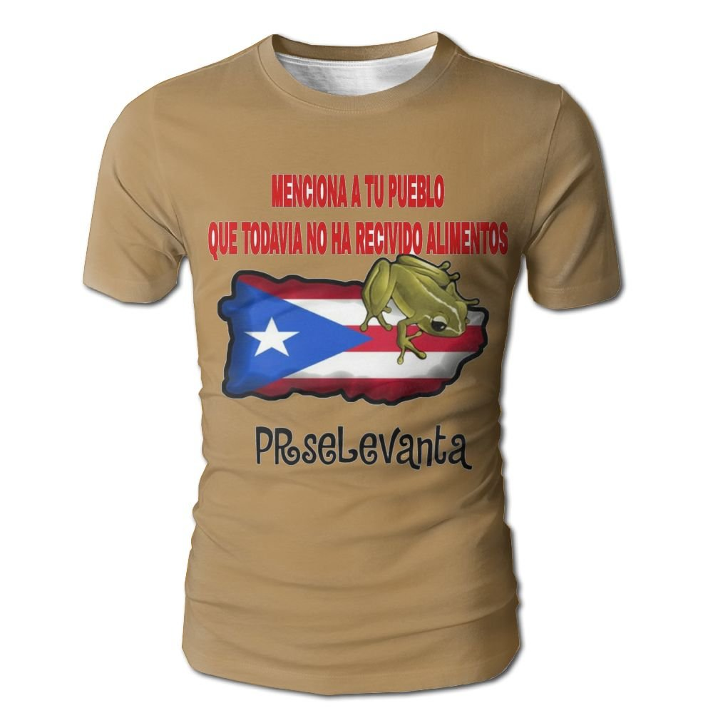 5929a650042c Amazon.com  Puerto Rico Frog Men s 3D Full Printed T-Shirt Casual Short  Sleeves Tees  Clothing