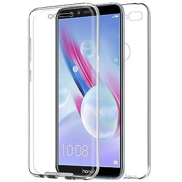 TBOC Funda para Huawei Honor 9 Lite - Honor 9 Youth - Carcasa [Transparente] Completa [Silicona TPU] Doble Cara [360 Grados] Protección Integral Total ...